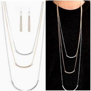 TO HAVE AND TO BOLD MULTI-NECKLACE/EARRING SET